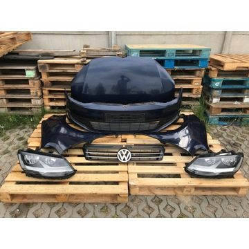 Kompletny przód VW SHARAN 7N LH5X maska zderzak