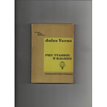 Pięć tygodni w  balonie. J. Verne