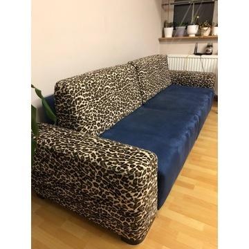 Granatowa rozkładana kanapa sofa pantera exotic