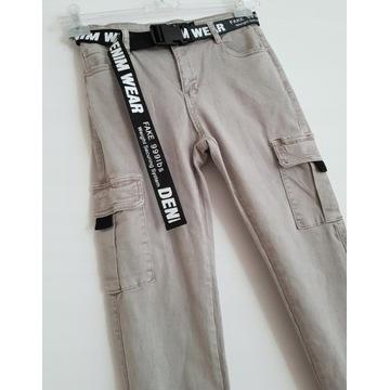 spodnie Suzi szare rozmiar L bojówki