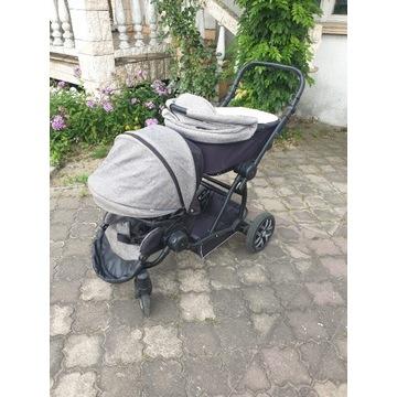 Wózek podwójny, dla dwójki dzieci, Bebetto