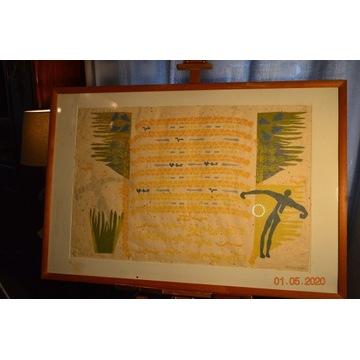 Grafika, litografia kolorowa Marianne Dykstra