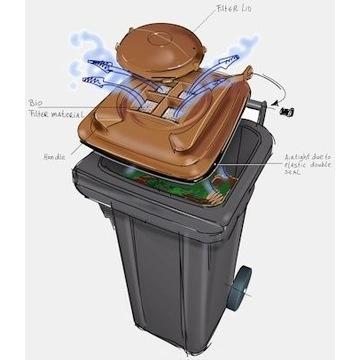 Pojemnik na śmieci 240 l BIO z filtrem NIEMIECKI