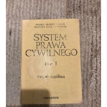System Prawa Cywilnego. Tom I