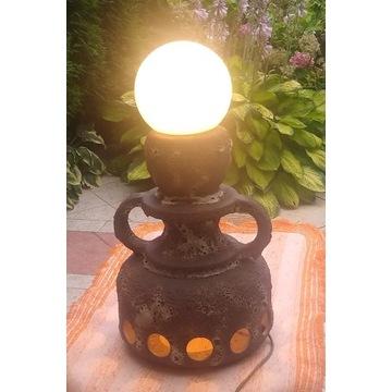 Ceramiczna lampa ogrodowa - antyczny design