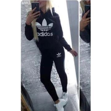 Dres damski komplet czarny adidas l xl