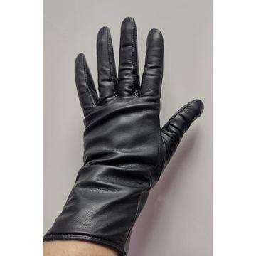 Rękawiczki damskie, H&M, skóra naturalna, rozm. S,