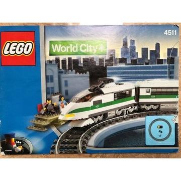 Lego World City 4511 - pociąg pasażerski *UNIKAT*