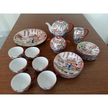 """Serwis do kawy/herbaty przedwojenna porcelana """"Vic"""