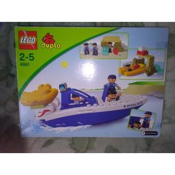 Lego Duplo 4861 łódź policyjna