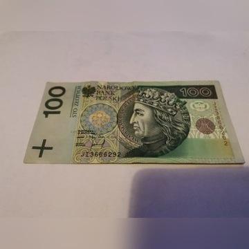 Banknot 100 zł 1994 rok nr ..666..
