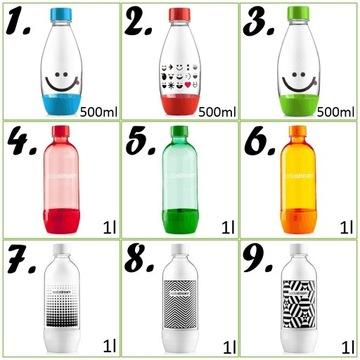Butelki SodaStream różne typy