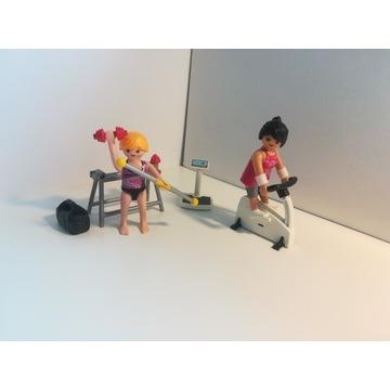 Playmobil zestaw siłownia figurki sprzęt komplet