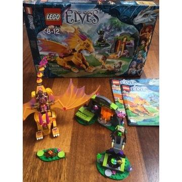 KOMPLETNY zestaw LEGO Elves 41175 Jaskinia Smoka O