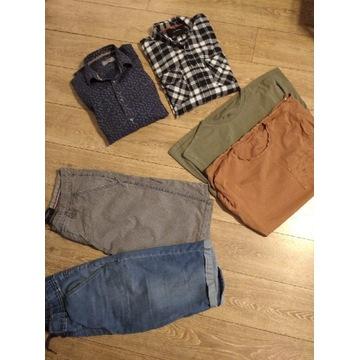 Zestaw ubrań męskich t-shirt koszula L XL