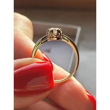 Pierścionek zaręczynowy z diamentem-wycena 6,4k zł