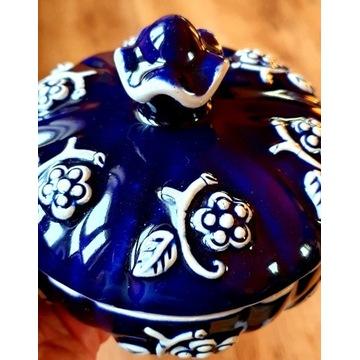 Stara cukiernica kobaltowa cukierniczka
