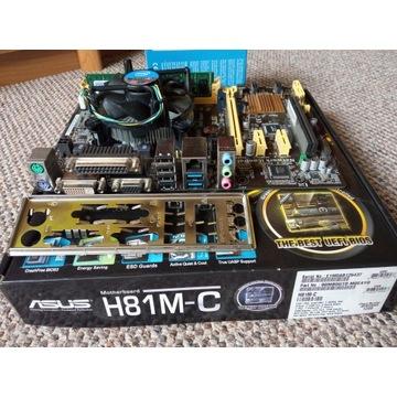 Płyta ASUS H81M-C + G3220 + 4GB DDR3