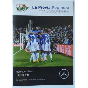 Program meczowy CD Leganes Real Betis + magazyn