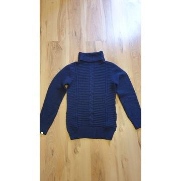 4F damski sweter golf 42 XL granat nowy