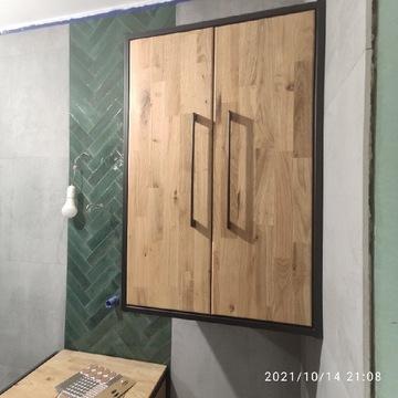 Szafka łazienkowa dębowa loft