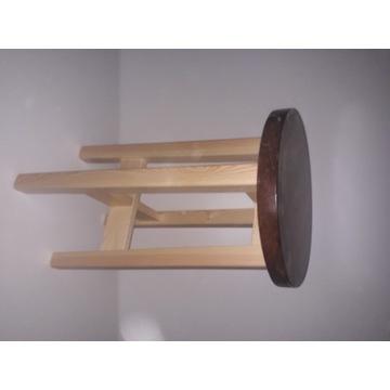Taboret drewniany 60 cm - biały,czarny,szary inne