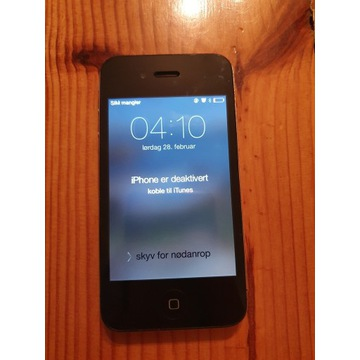 Iphone 4 Model: A1332 Zablokowany ICLOUD