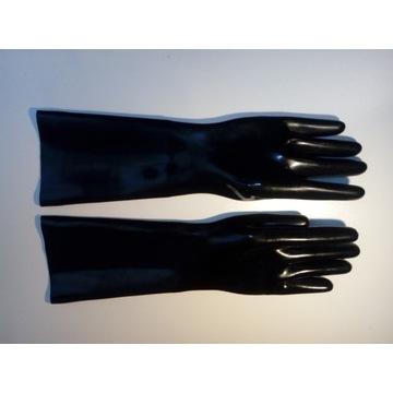 Rękawiczki lateksowe 100% lateks/latex BDSM 40cm