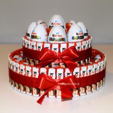 Tort Kinder z 9 niespodziankami i Schoko Bons