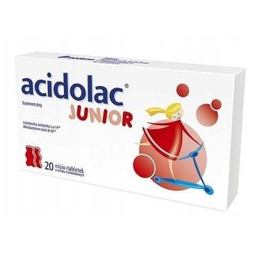 Acidolac junior 20 misio-tabletek smak truskawkowy