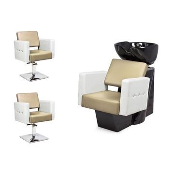 2 x Fotel Fryzjerski + Myjnia Fryzjerska VERONA