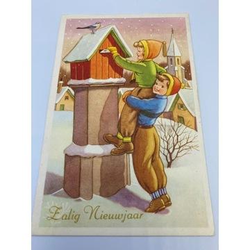 Pocztówka świąteczna z dziećmi