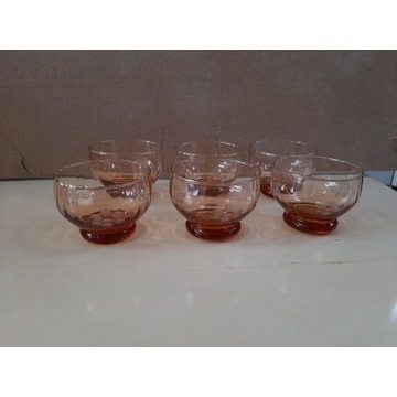 pucharki do lodów vintage 6 szt