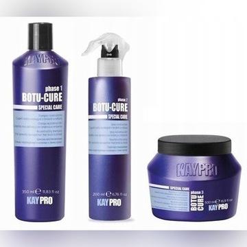 KAYPRO BOTU CURE 3 FAZOWY ZESTAW Botox do włosów