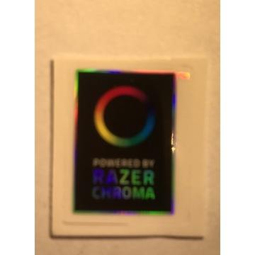 Naklejka razer hologramowa 2,5 x 1 cm