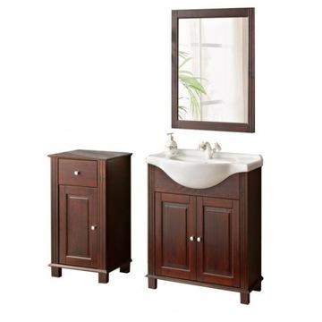Zestaw drewnianych mebli łazienkowych retro COMAD