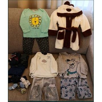 Piżamy + szlafrok 86-92r
