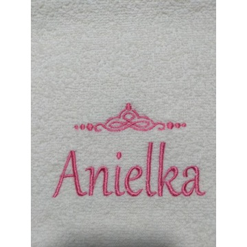 Ręcznik 30x50 z haftem imienia Anielka