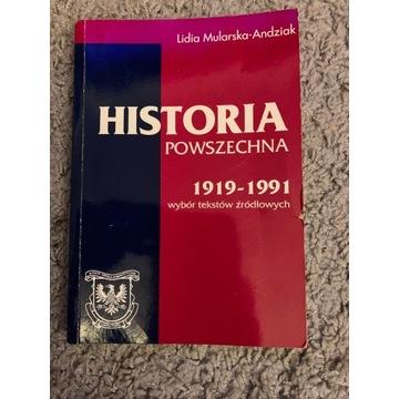 Historia Powszechna  1919-1991