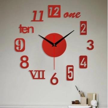 Bezramowe DIY ściana cichy zegar 3D naklejane lust