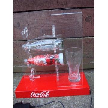 Coca Cola podświetlany stojak na butelki reklama