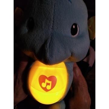 Świecący i grający konik morski Fisher Price