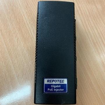Zasilacz PoE+ Repotec RP-PEG048I (Gigabit)