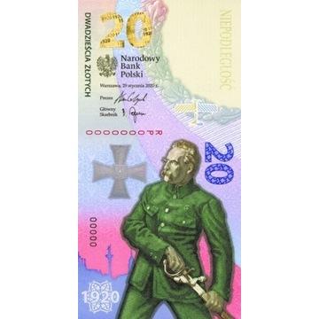 20 zł Banknot Bitwa Warszawska 1920 100. Rocznica