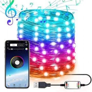 Światło LED dekoracja strunowe Bluetooth 20M