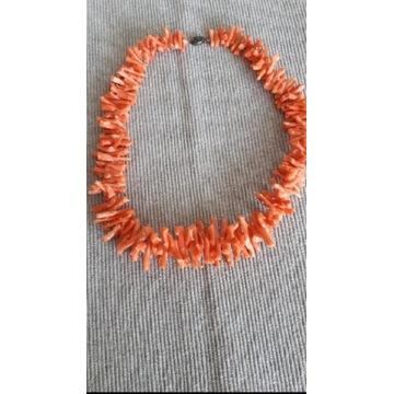 Korale z naturalnego korala różowego 40 cm.