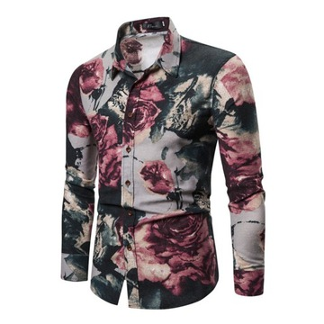 Koszula męska długi rękaw L slim fit bawełna 2020