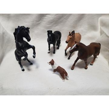 Zestaw koni Schleich + pies