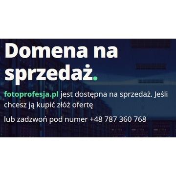 Domena fotoprofesja.pl