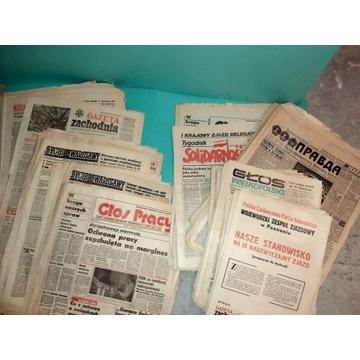 Stare Gazety. Stan wojenny. Różne tytuły 1980-81r